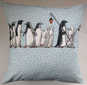 Cushion Cover in Emma Bridgewater Chatty Penguins 16""